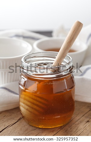 honey dipper delicious sweet healthy still life closeup golden dessert yummy freshness rustic background