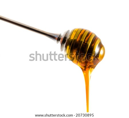 honey drizzler with a stream of honey