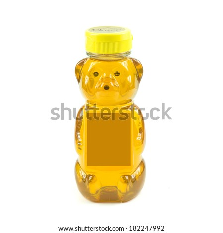 honey in bear bottle