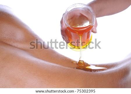 Honey massage - stock photo