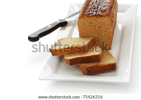 honey spice bread , french ginger bread - stock photo