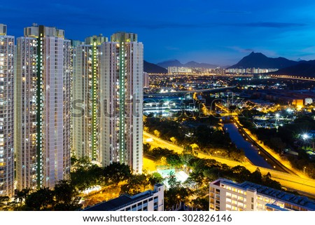 Hong Kong apartment building - stock photo
