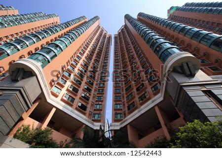 Hong Kong Buildings - stock photo