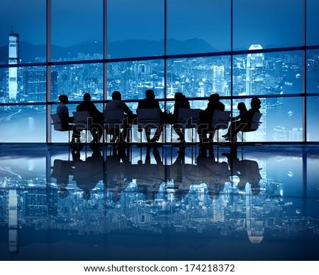 Hong Kong Business Meeting - stock photo