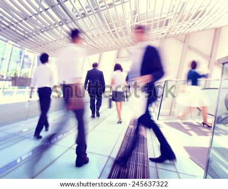 Hong Kong Business People Commuting Concept - stock photo