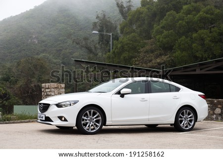 Hong Kong, China Feb 2, 2013 : Mazda6 Saloon Japan Model test drive on Feb 2 2013 in Hong Kong. - stock photo