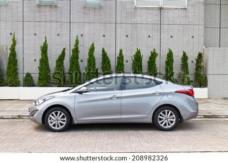 Hong Kong, China Jun 8, 2014 : Hyundai Elantra 2014 test drive on Jun 8 2014 in Hong Kong. - stock photo