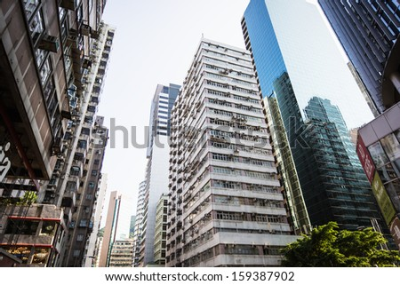 HONG KONG - CIRCA SEPTEMBER 2013 - Skyscrapers CIRCA September 2013 in Hong Kong. - stock photo