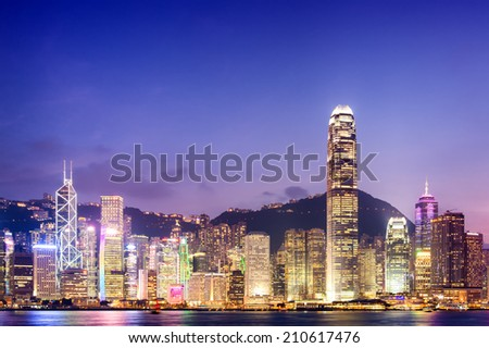 Hong Kong city : Twilight time