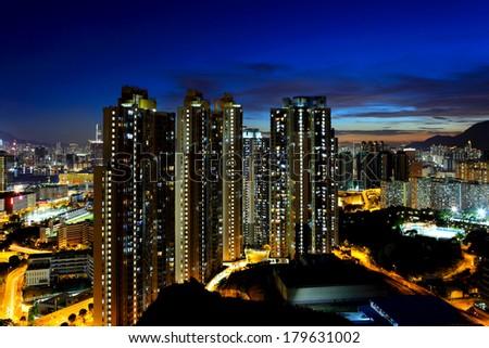 Hong Kong cityscape - stock photo