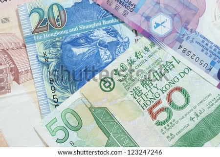 Hong Kong Dollars - stock photo