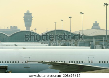 Hong kong international airport stock images royalty free images vectors shutterstock - Cathay pacific head office ...