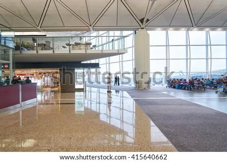 Interior pudong airport shanghai china stock photo 134012498 shutterstock - Air china hong kong office ...