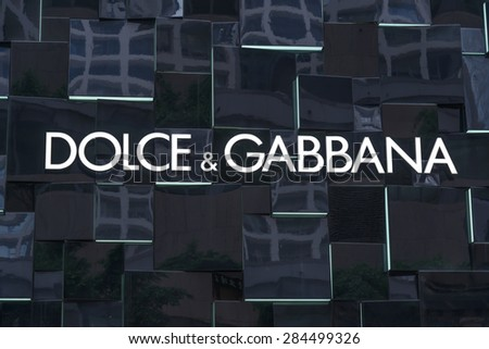HONG KONG - MAY 5, 2015: Dolce & Gabbana store in Hong Kong. Is a luxury industry fashion house. Was started by Italian designers Domenico Dolce and Stefano Gabbana. - stock photo