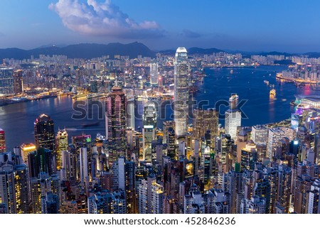 Hong Kong night - stock photo