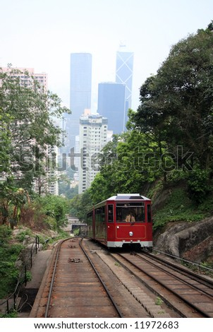 Hong Kong Peak Tram - stock photo