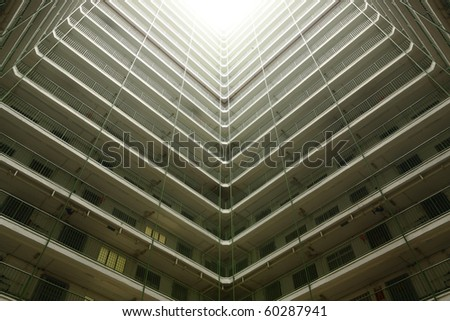 Hong Kong public housing apartment block - stock photo