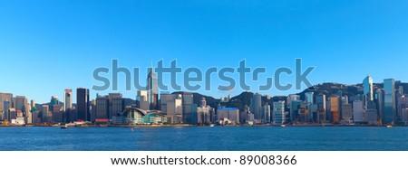 Hong Kong skyline at day - stock photo