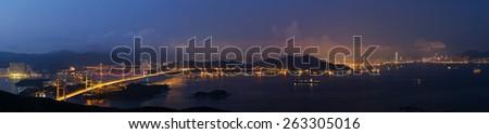 Hong Kong Sunset - stock photo