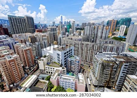 Hong Kong Urban downtown at day - stock photo