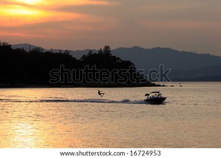 Hong Kong wake board - stock photo