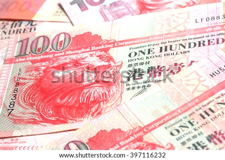 Hongkong dollar currency,money