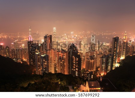 hongkong night light