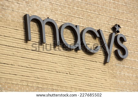 HONOLULU, HI - AUGUST 7, 2014: Macy's store in Honolulu at Ala Moana  shopping center Macy's is a mid-range to upscale chain of department stores owned by American multinational corporation Macy's.  - stock photo