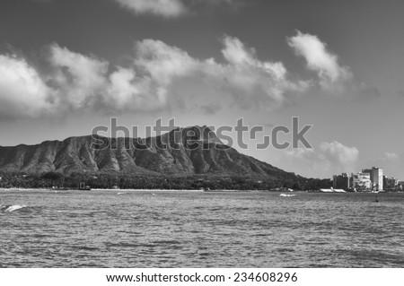 Honolulu, Nov. 16:  Diamond Head Condominiums are facing a lease renewal with the State of Hawaii.  Honolulu, Hawaii, USA.  Nov. 16, 2014 - stock photo