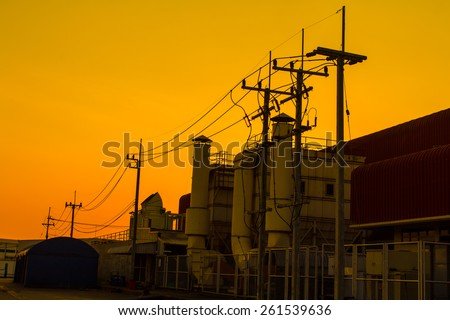 Hood exterior car manufacturing industry on Red sky orange sunset sundown