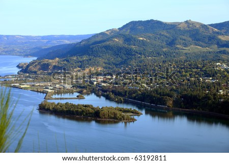 Hood River town, Oregon.