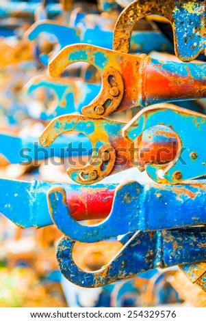 Hook of scaffolding, Thailand - stock photo