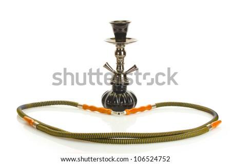 hookah isolated on white background - stock photo