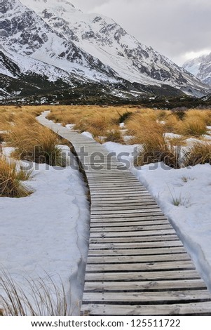 Hooker Valley Track - stock photo