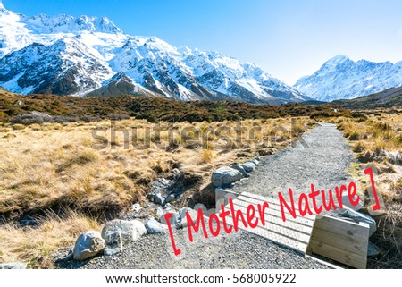 Hooker valley walking trek in Mouth Cook, New Zealand