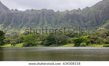 Hoomaluhia Botanical Gardens, Oahu, Hawaii, USA