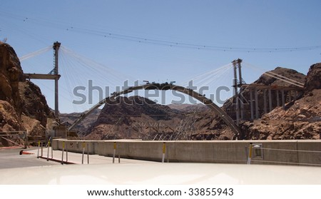 Hoover Dam by-pass bridge is connected