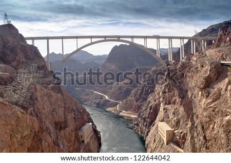 Hoover Dam Bypass - stock photo