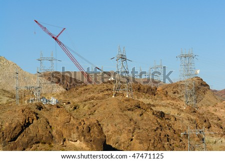 Hoover Dam Electric Power Plant Grid Construction