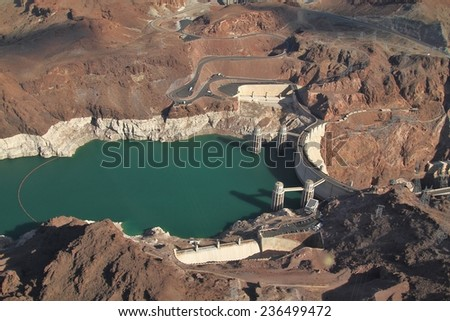 Hoover dam - Grand Canyon - National Park  - stock photo