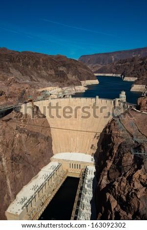 Hoover Dam near Las Vegas Nevada - stock photo