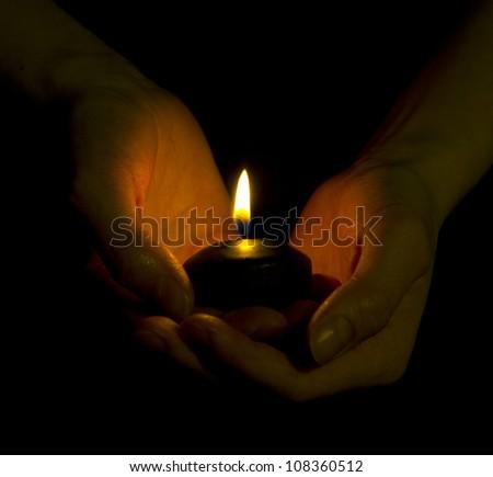Hope illuminates - stock photo