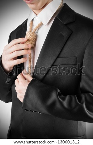 Hopeless bankrupted businessman - stock photo