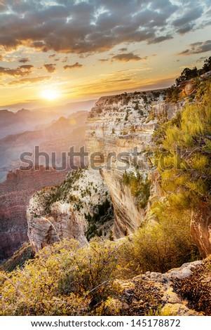Hopi Point, Grand Canyon National Park - stock photo