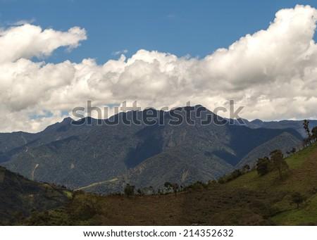 Horizon over the Andes mountains, ecuador, south america - stock photo
