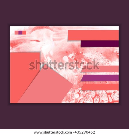 horizontal brochure design - set decorative green trees design stock illustration