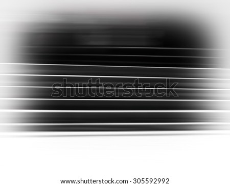 Horizontal black and white vignette stairs abstraction background