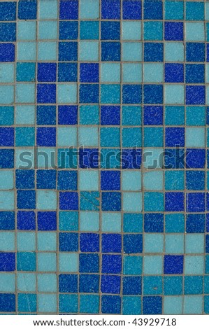 Horizontal Blue Tile Background with open space for text