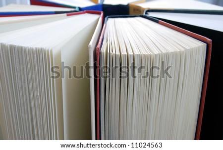 Horizontal Circle of Books - stock photo