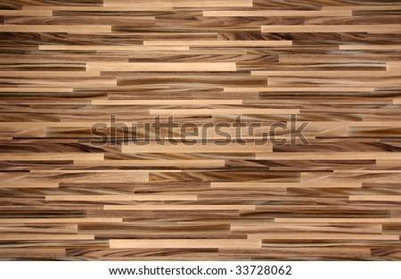 Horizontal contemporary striped wood flooring texture - stock photo